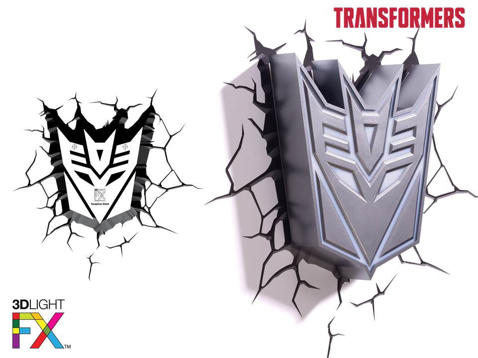 Crack Sticker - Transformer Decepticon Shield