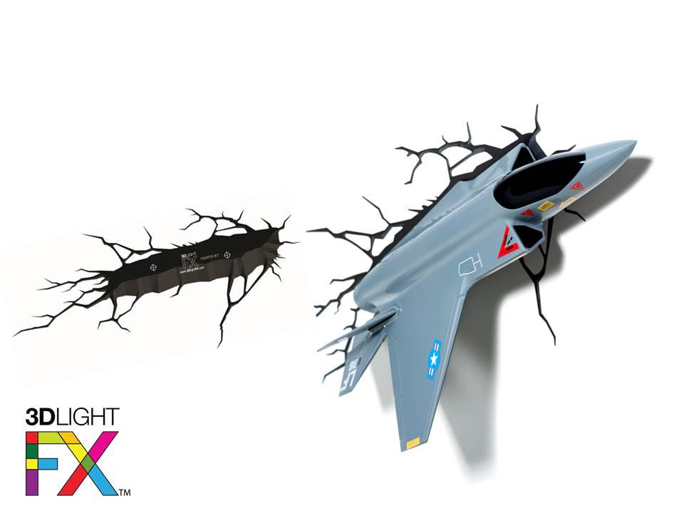 Crack Sticker - Fighter Jet