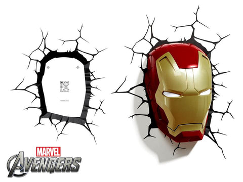 Crack Sticker - Iron Man Mask