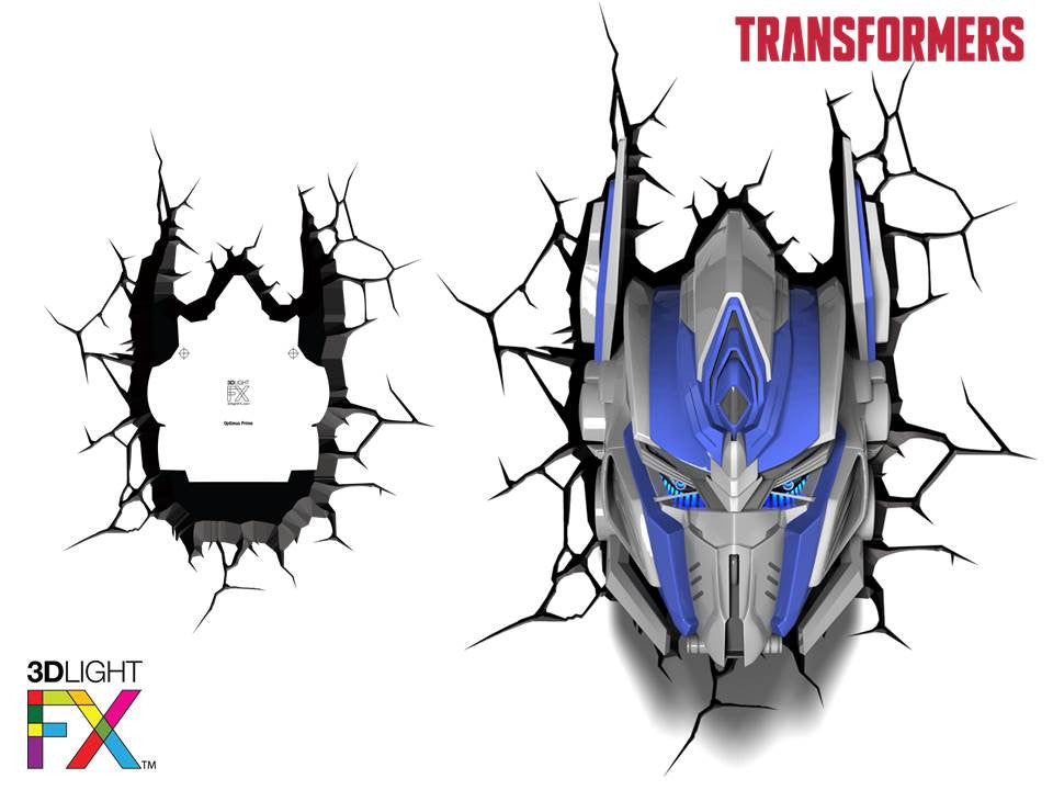 Crack Sticker - Transformer Optimus Prime
