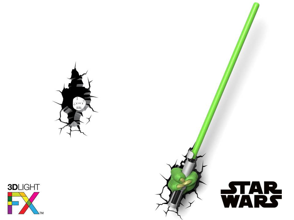 Crack Sticker - Star Wars Yoda Saber