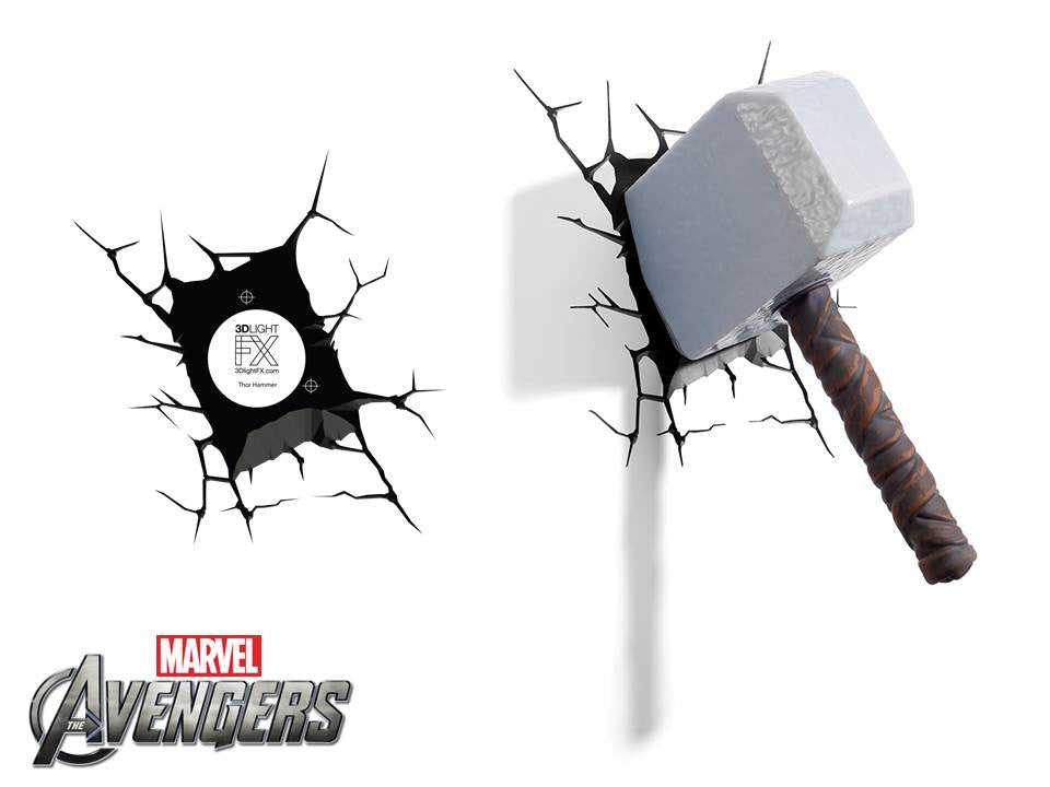 Crack Sticker - Thor Hammer