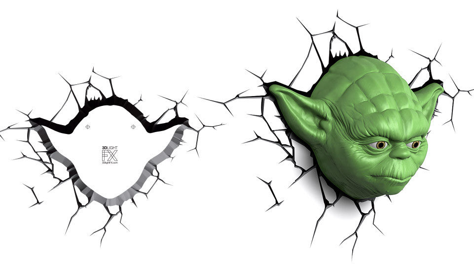Crack Sticker - Star Wars Yoda Face