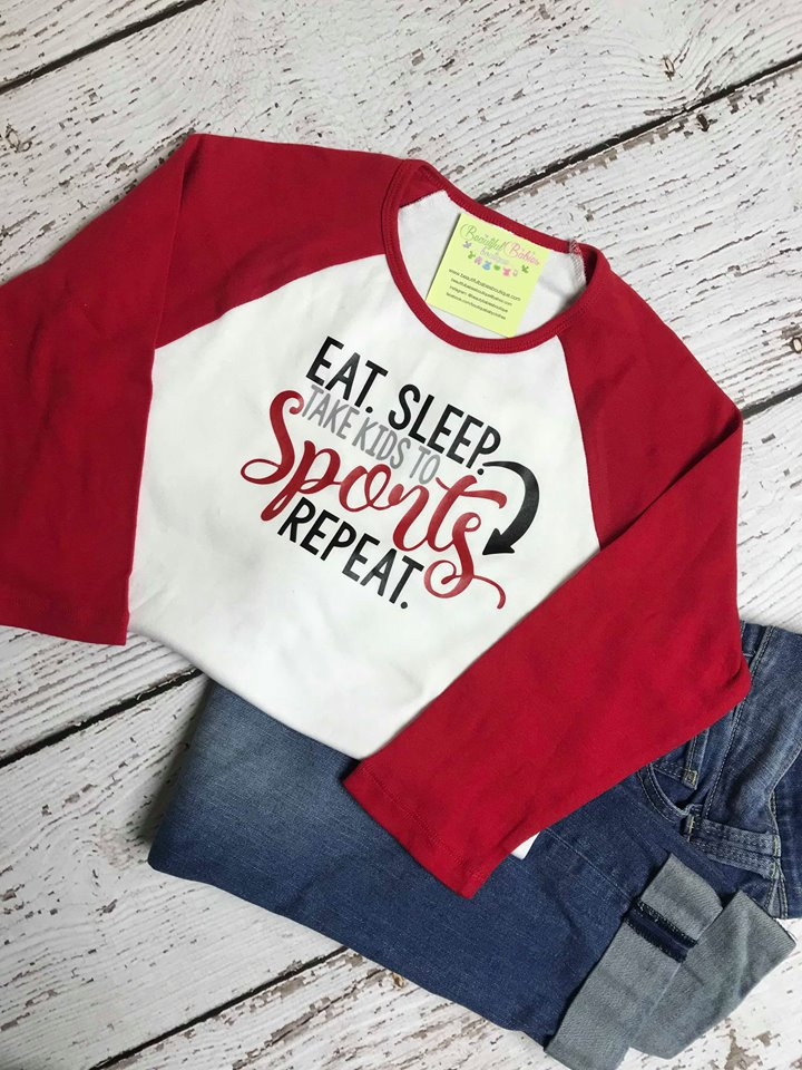 Sports Mom Ladies Tee, Raglan or Short Sleeve