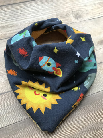 Bandana Style Bib - MANY prints - girl and boy