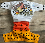 "Beautiful Baby Bottoms Cloth Diaper - ""Candy Saurus Rex"" Embroidered"