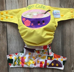 "Beautiful Baby Bottoms Cloth Diaper - ""Miso Cute"" Embroidered"