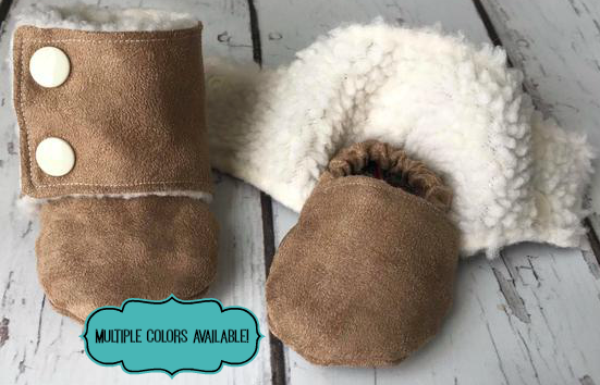 Beautiful Babies Stay On Suede Booties