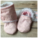 Beautiful Babies Stay-on Booties - Solid with Lace