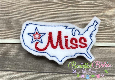 Miss America Hair Clip or Headband