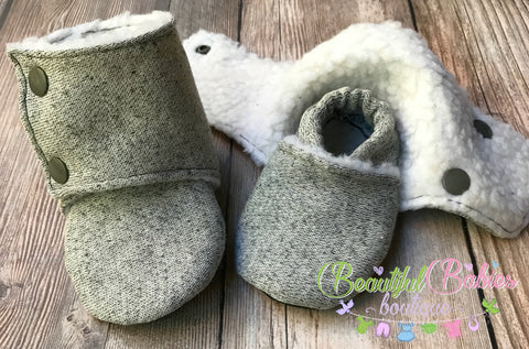 Beautiful Babies Stay On Booties - Sweater Knit - Multiple Sweater Prints Available