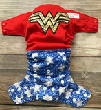 Beautiful Baby Bottoms Cloth Diaper - Wonder Woman Embroidered