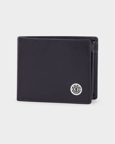 Element Icon Leather Wallet FLINT BLACK