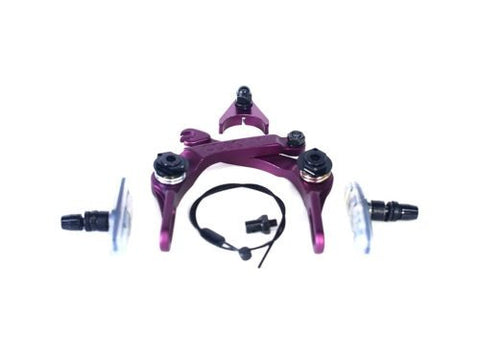 Colony BMX Brethren Brake Set - New CNC Alloy With Clear Brake Pads PURPLE 208gms