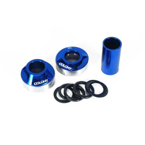 Colony BMX Spanish Bottom Bracket Kit 22mm Spindle BLUE 105gms