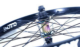 "Colony 20"" Wheel Set BMX Black Pintour Rim With Wasp Hubs Right Drive RAINBOW"