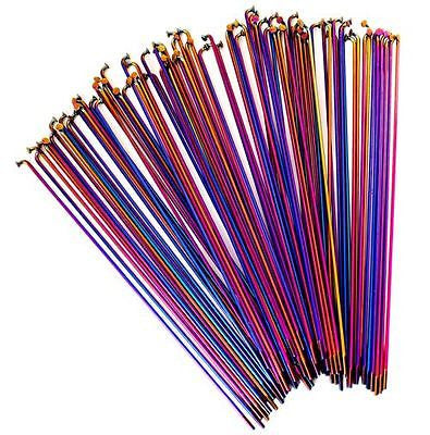 Colony Bmx Spokes Stainless Steel Pack of 20 RAINBOW 184mm