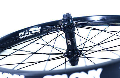 "Colony 20"" Front BMX Wheel Black Pintour Rim With Wasp Hub BLACK 1043gms"