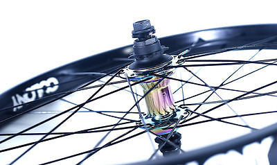"Colony 20"" Rear BMX Wheel Pintour Rim With Wasp Hub Right Drive RAINBOW 1196gms"