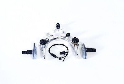 Colony BMX Brethren Brake Set - New CNC Alloy With Clear Brake Pads POLISHED 205gms