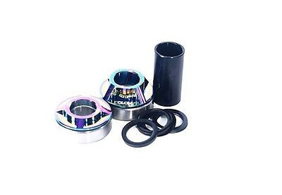 Colony BMX Mid 19mm Bottom Bracket Kit Oil Slick RAINBOW 177gms