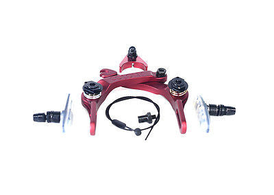 Colony BMX Brethren Brake Set - New CNC Alloy With Clear Brake Pads RED 208gms