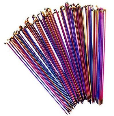 Colony BMX Stainless Steel BMX Spokes 186mm Long Pack Of 40 -RAINBOW
