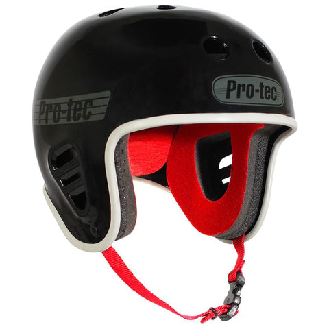 Pro-Tec Skate Helmets - Full Cut GLOSS BLACK