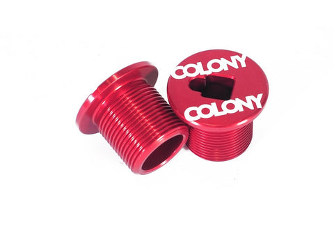 Colony BMX M25 Fork Bolt Top Cap For 2015 & Earlier Colony Forks RED 21gms