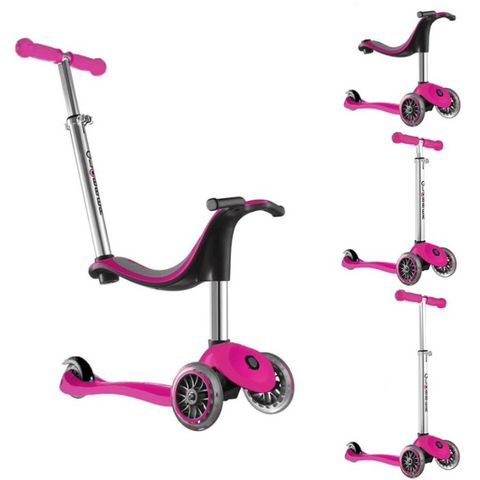 Globber 3 Wheel Scooter 4 in 1  PINK