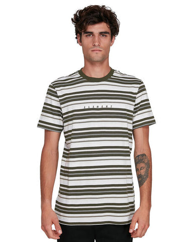 ELEMENT - Gym Stripe Tee - ARMY