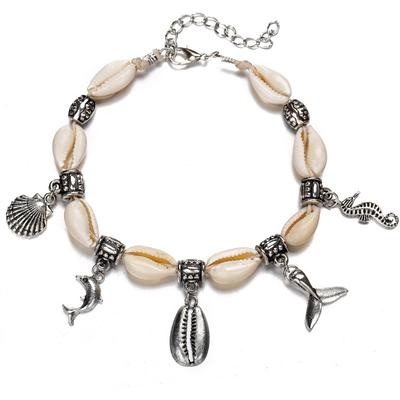Nalu Jewels - Cowrie Silver Charm Anklet