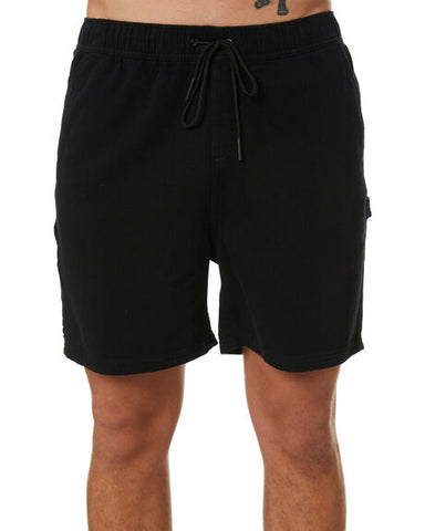 RUSTY Charlie Elastic Short - BLACK