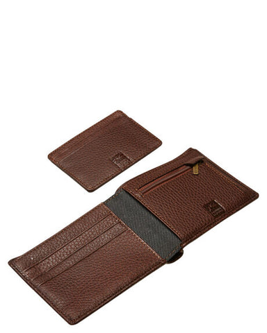 Rusty High River Leather Wallet TAN