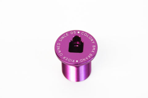 Colony BMX M24 Fork Bolt Top Cap For 2016 Colony Forks PURPLE 21gms