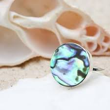 MERMAID BEACH CO. Abalone Shell Circle Ring (Size 6)