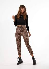AFENDS Moss Slim Fit Pant LEOPARD