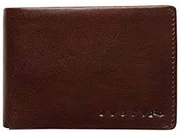 Rusty Busted Leather Wallet TAN
