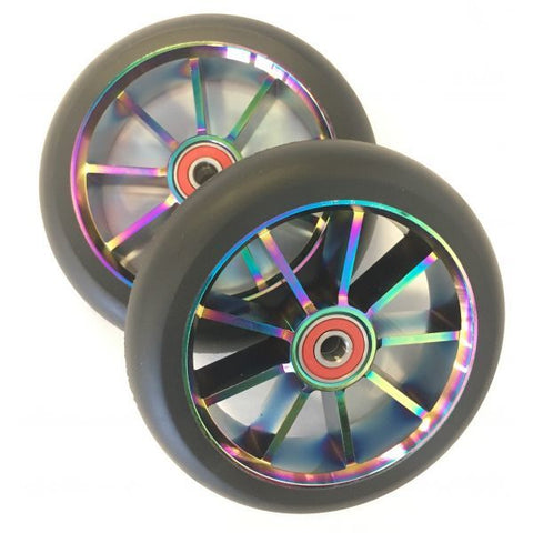 9 Spoke 120mm Wheels - OIL SLICK