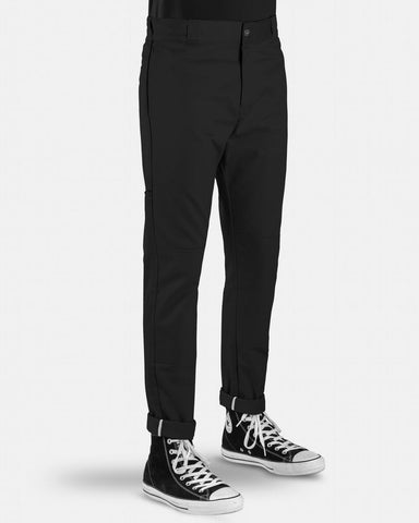 DICKIES Skinny Straight Double Knee Pants BLACK