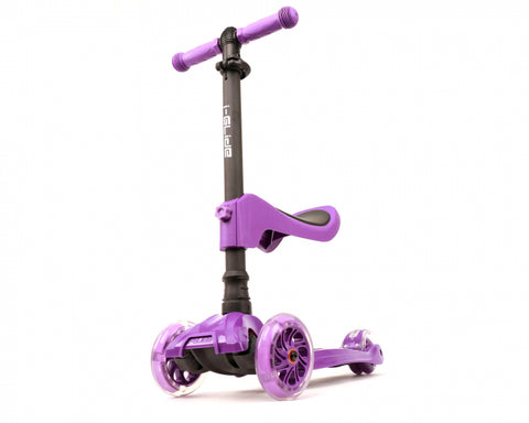 i-Glide Kids 3 Wheel Scooter W/ Seat PURPLE