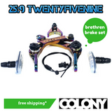 Colony BMX Brethren Brake Set - RAINBOW 205gms