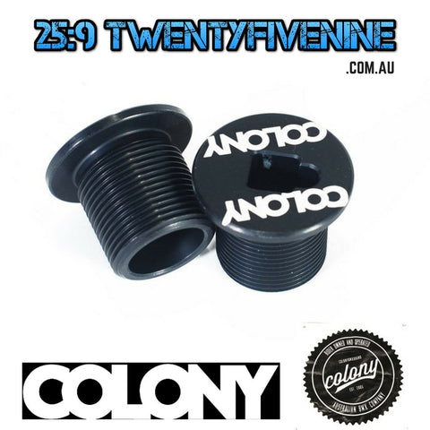 Colony BMX M25 Fork Bolt Top Cap For 2015 & Earlier Colony Forks BLACK 21gms