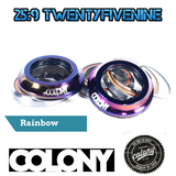 Colony Integrated BMX Headset Sealed Bearings & Top Cap RAINBOW 55gms