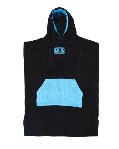 O&E Adults Day Break Hooded Poncho - BLK/BLUE
