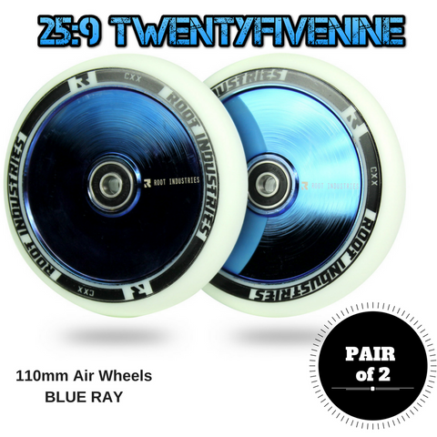 Root Industries Air 110mm Scooter Wheels LIMITED BLUE RAY 220gms