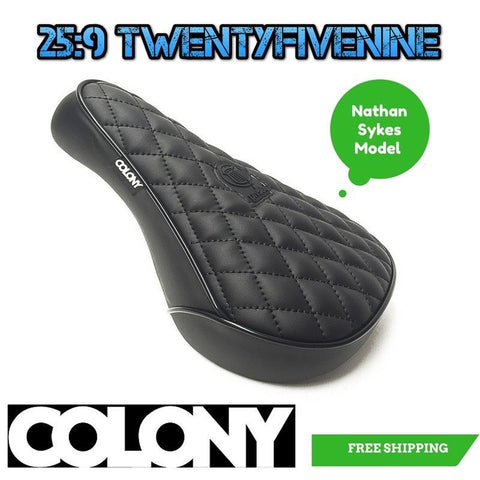 Colony Nathan Sykes Signature Bmx Padded Seat Pivotal BLACK 368gms