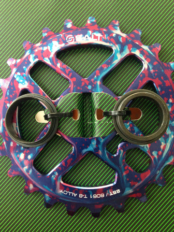 Salt Pro BMX 25t Pro Sprocket 19mm or 22mm TIE DYE 58gms