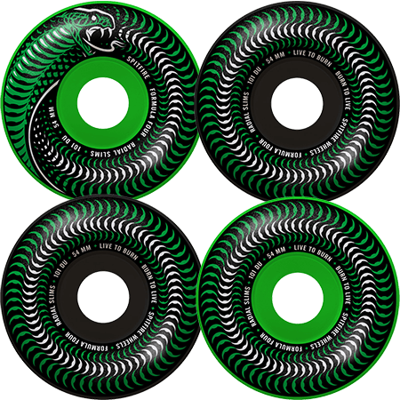 SPITFIRE Formula Four Radial Slims Wheels 52mm GREEN