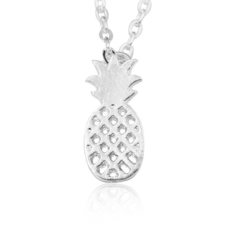 collier argent ananas